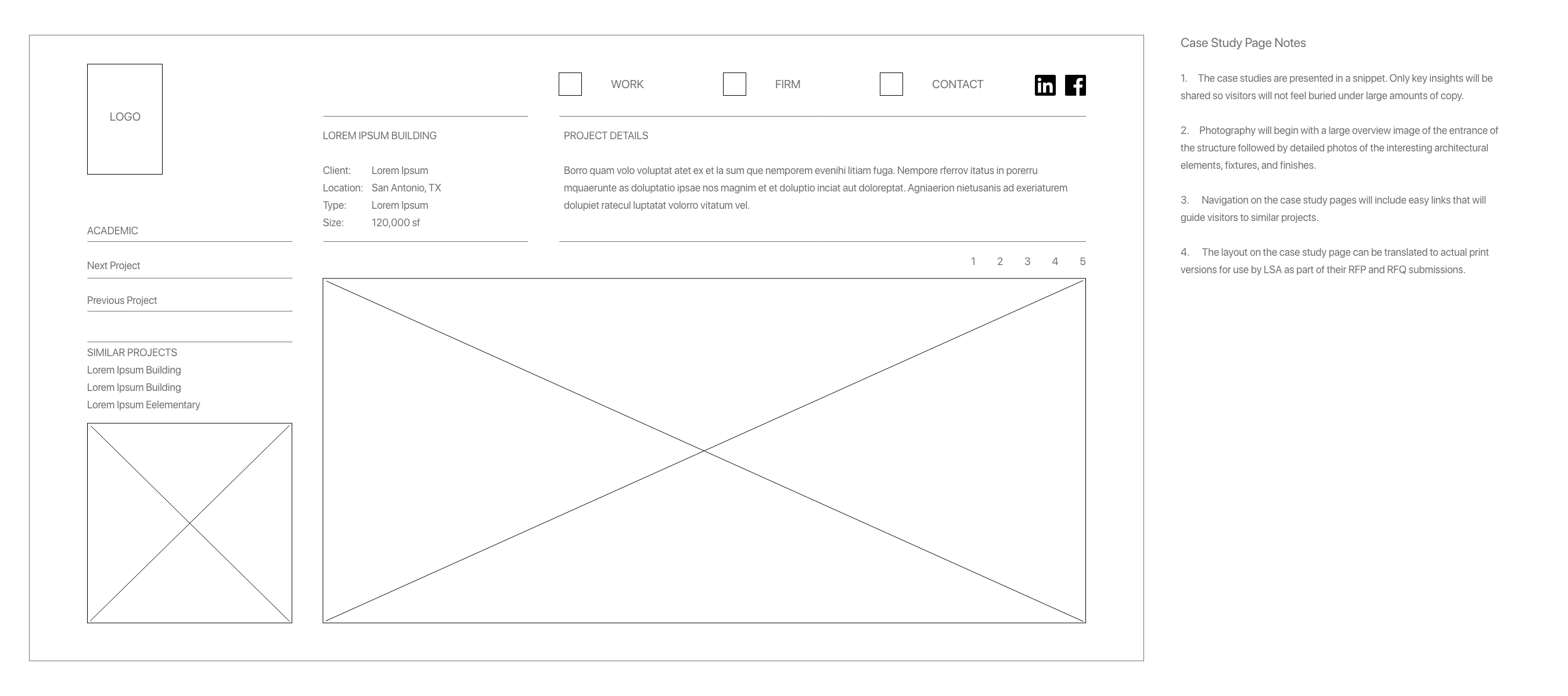 Case Study Wireframe