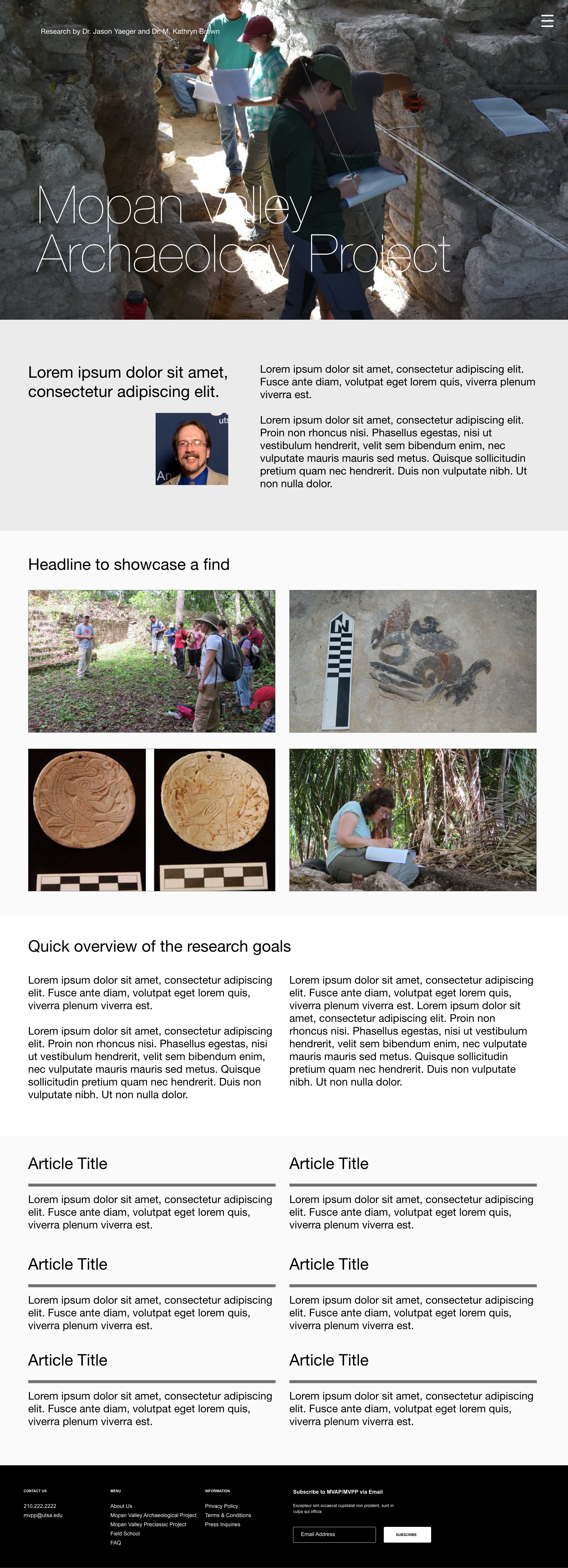 standard research page