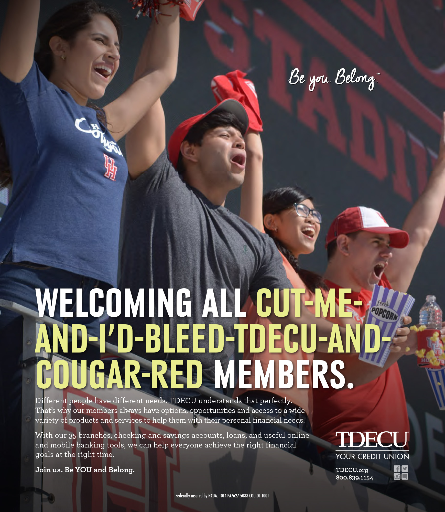 UH Cougars Support Ad