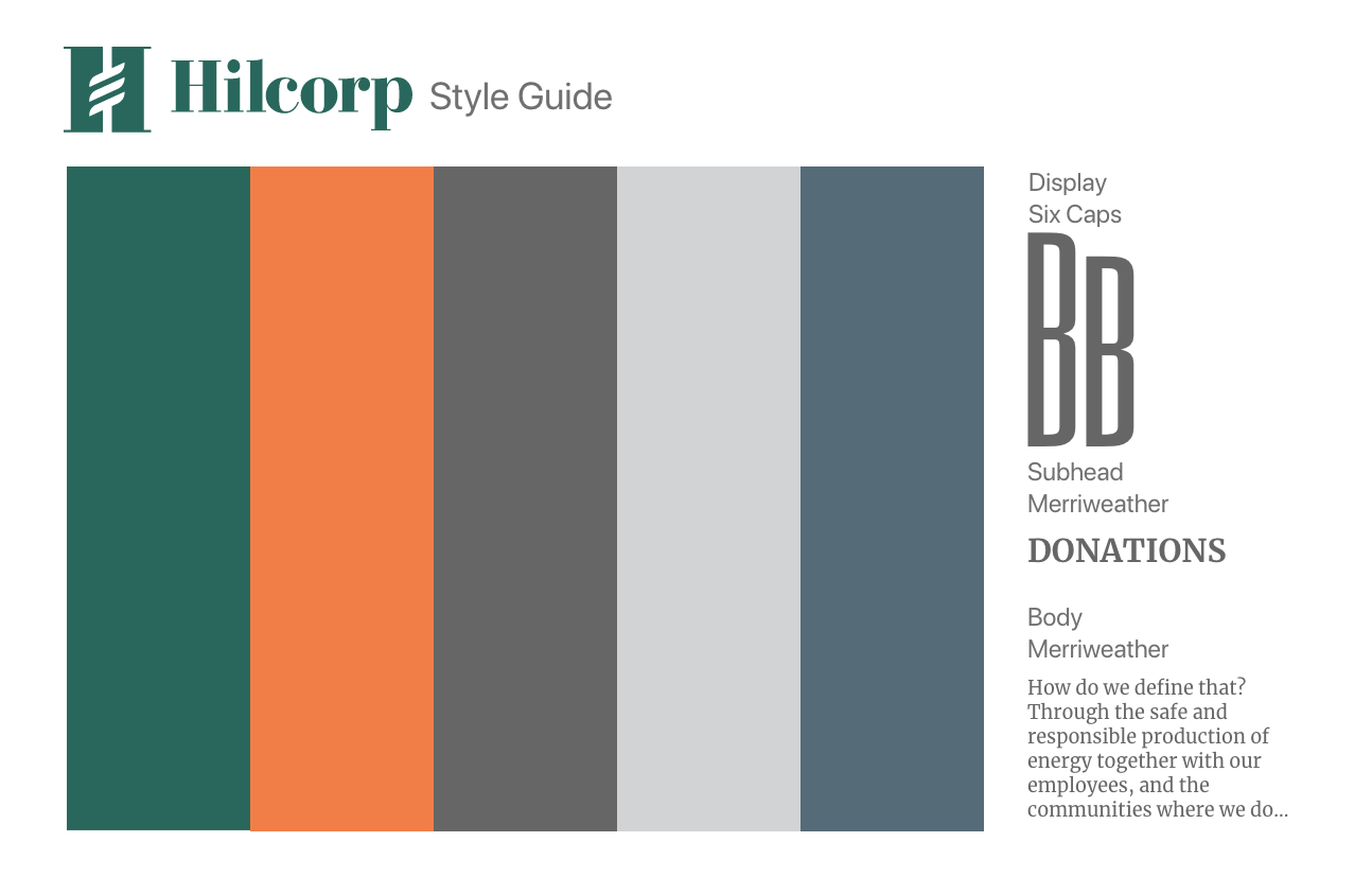 Hilcorp Style Guide 01