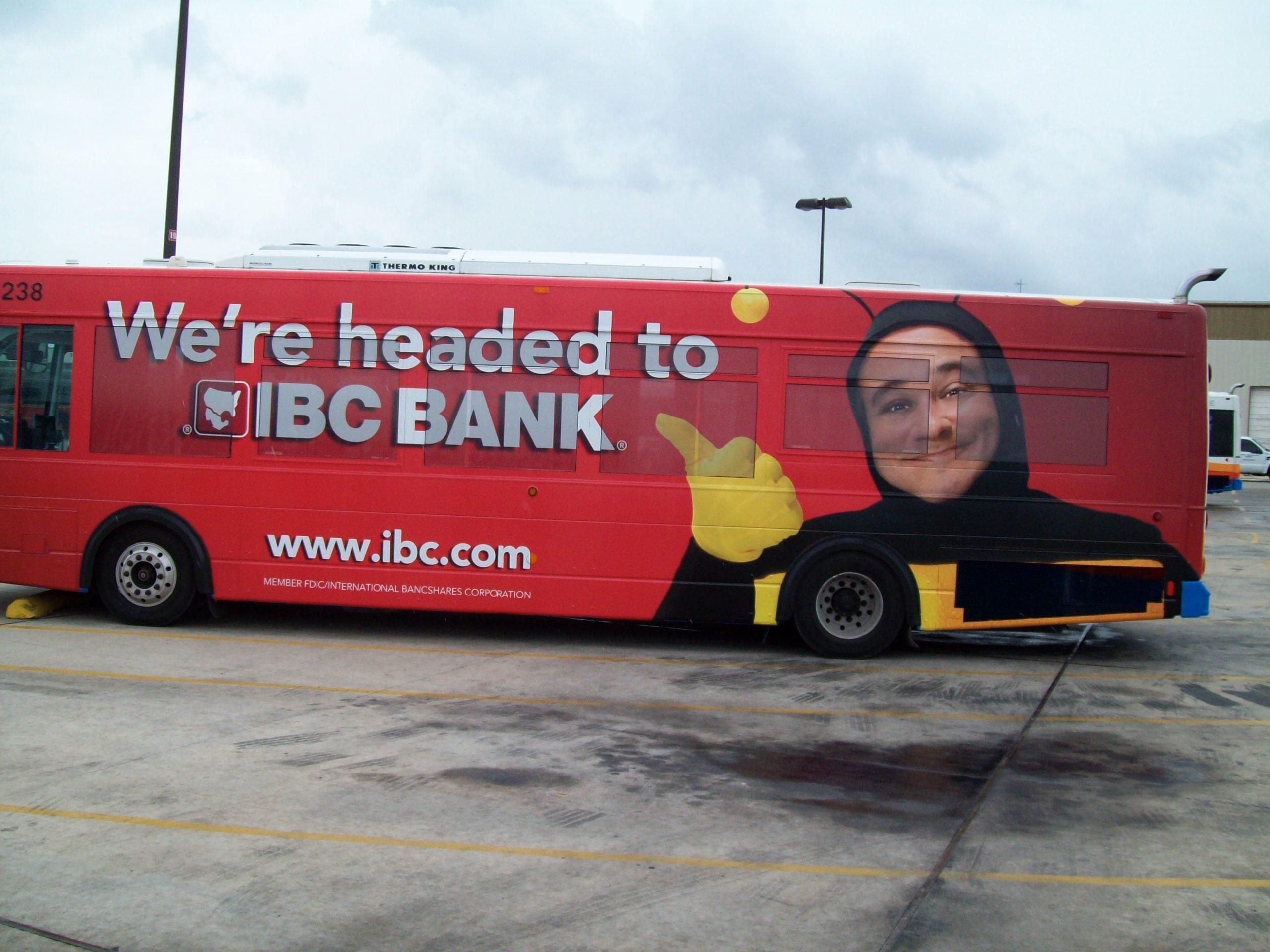 IBC Bus wrap